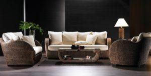 Luxury Cane Sofa Set