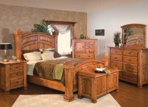 Roman Empire Cherry Wooden Bed Set
