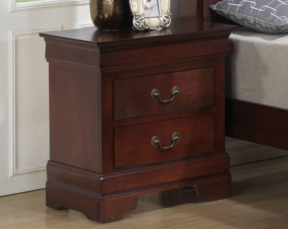 Brown Wood Nightstand