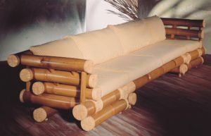 Solid Style Wood Sofa