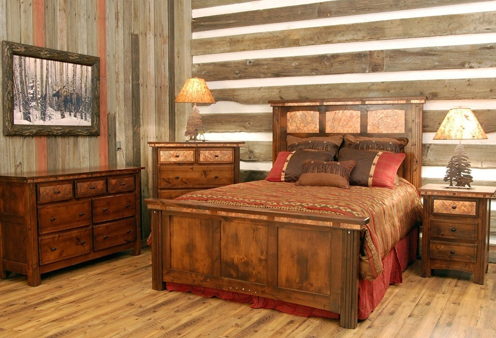 Gray Wood Bed Set