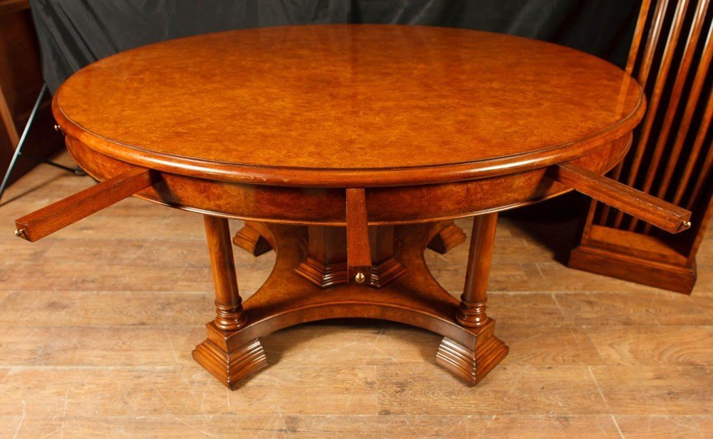 Solid Walnut Round Dining Table