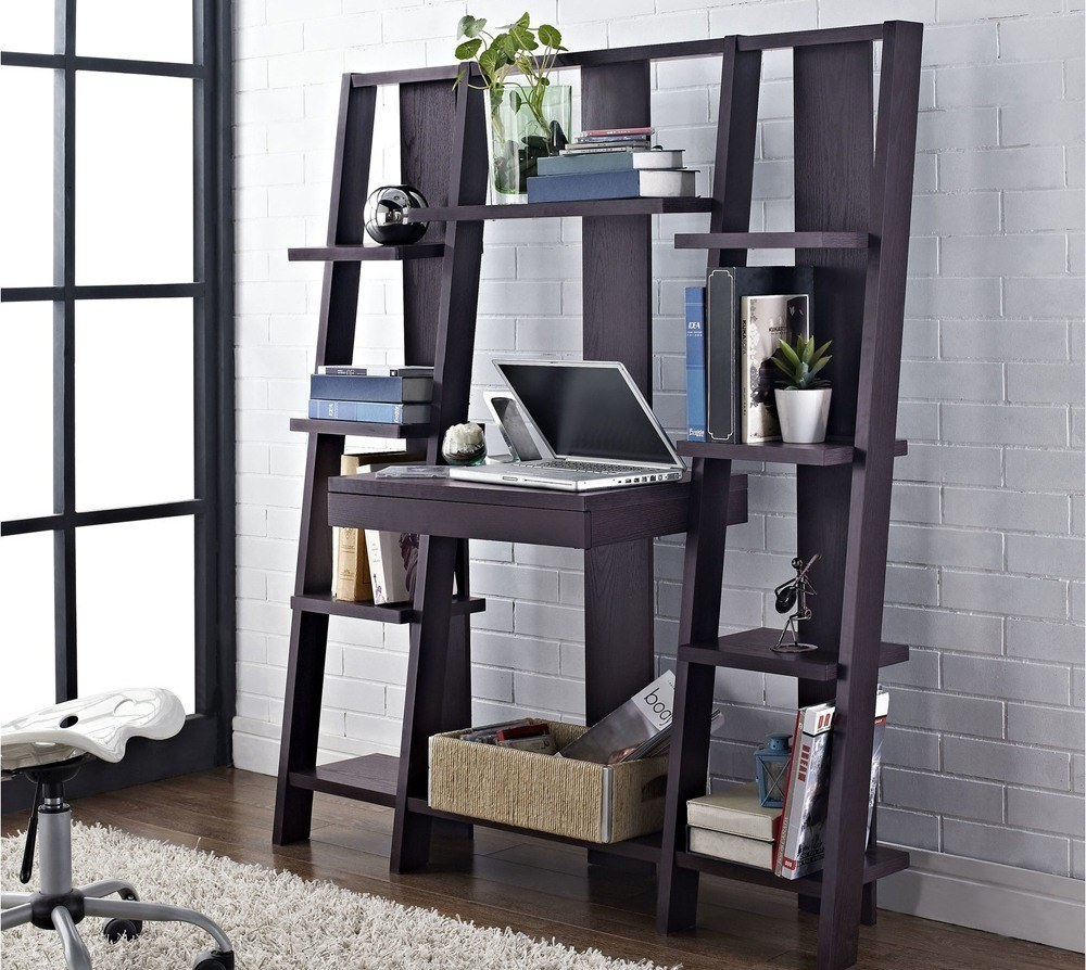 Solid Wood Ladder Bookshelf