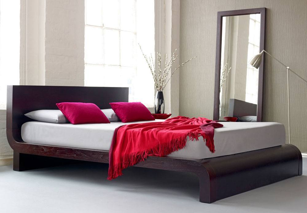Solid Oak Platform Bed