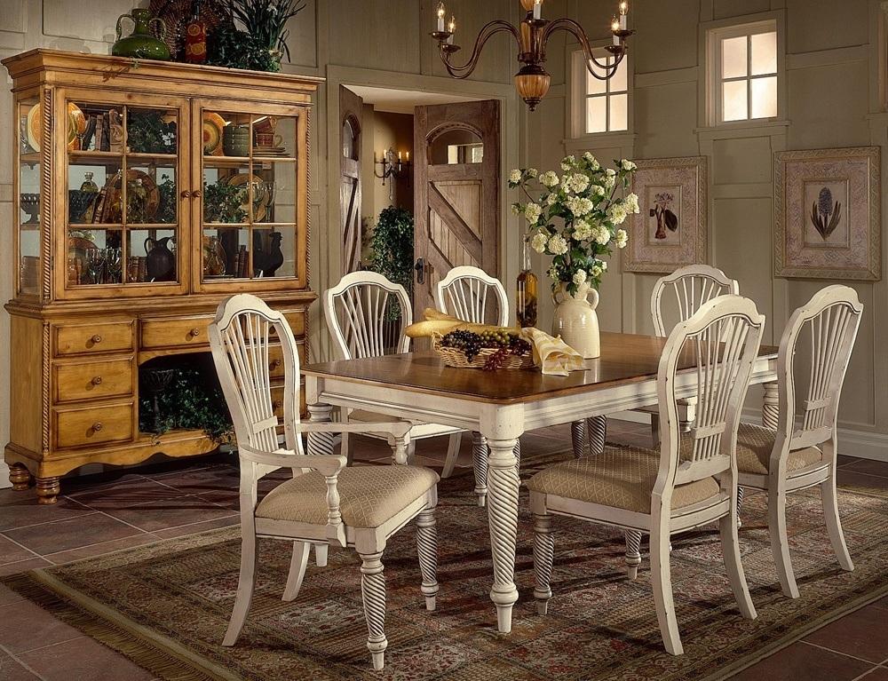 White Wood Rectangular Dining Table