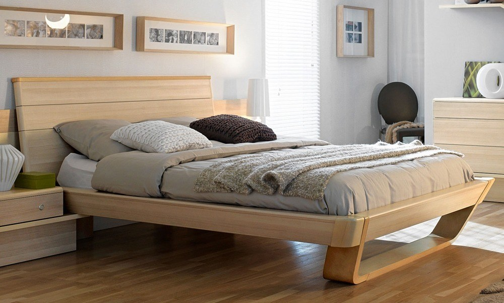 Contemporary Wood Bed