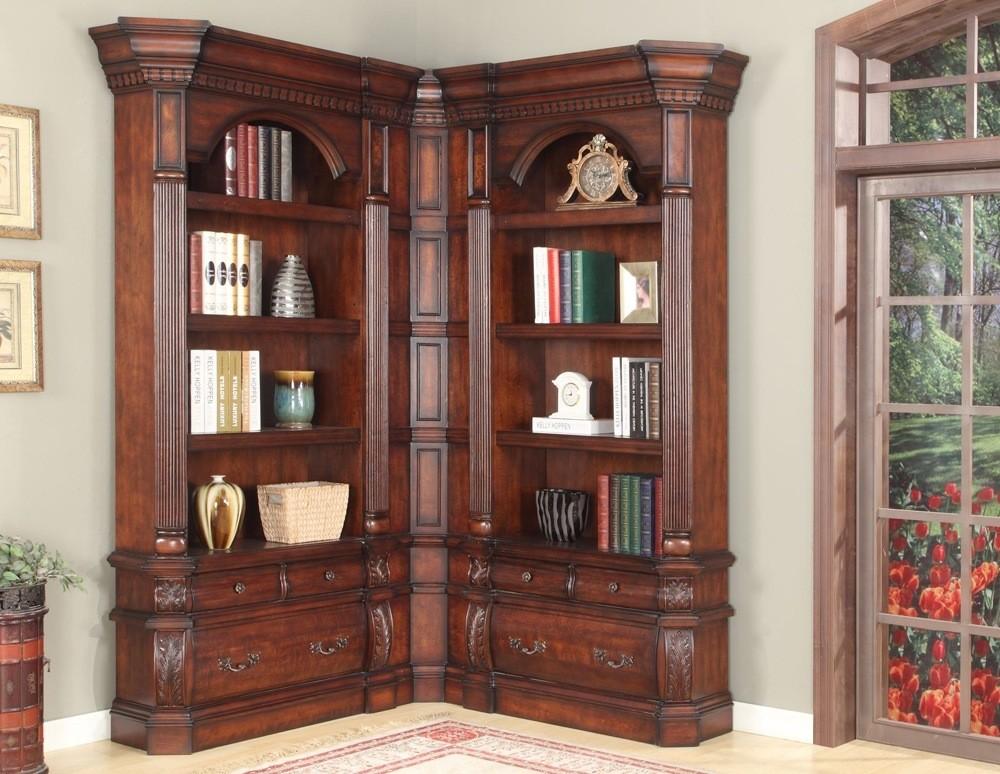 Large Corner Bookcase Unit