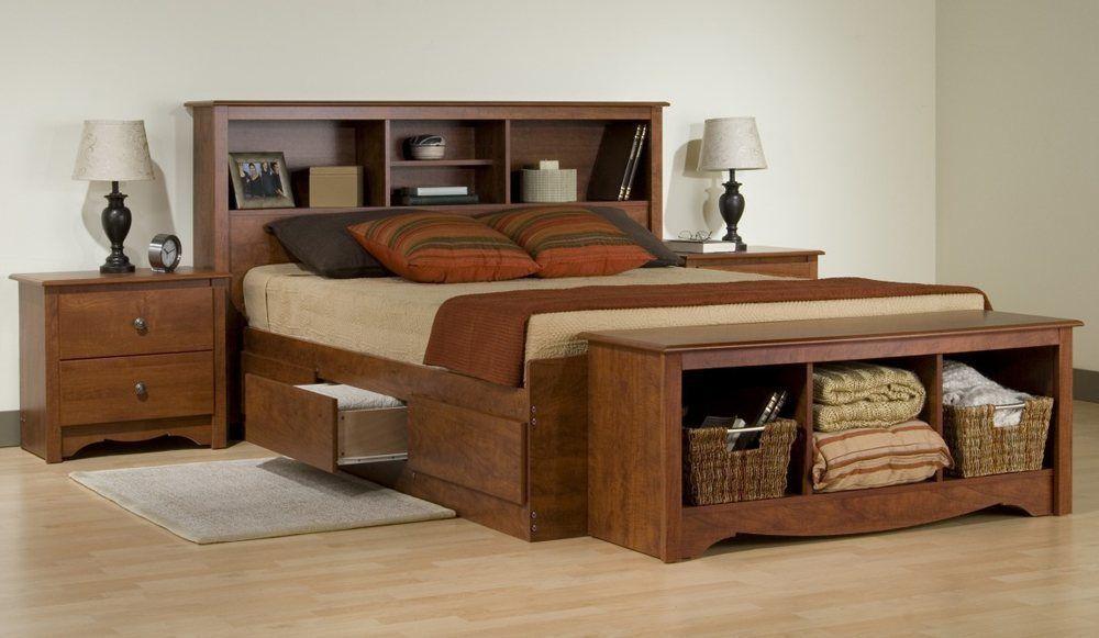 Dark Wood King Size Bedroom Set