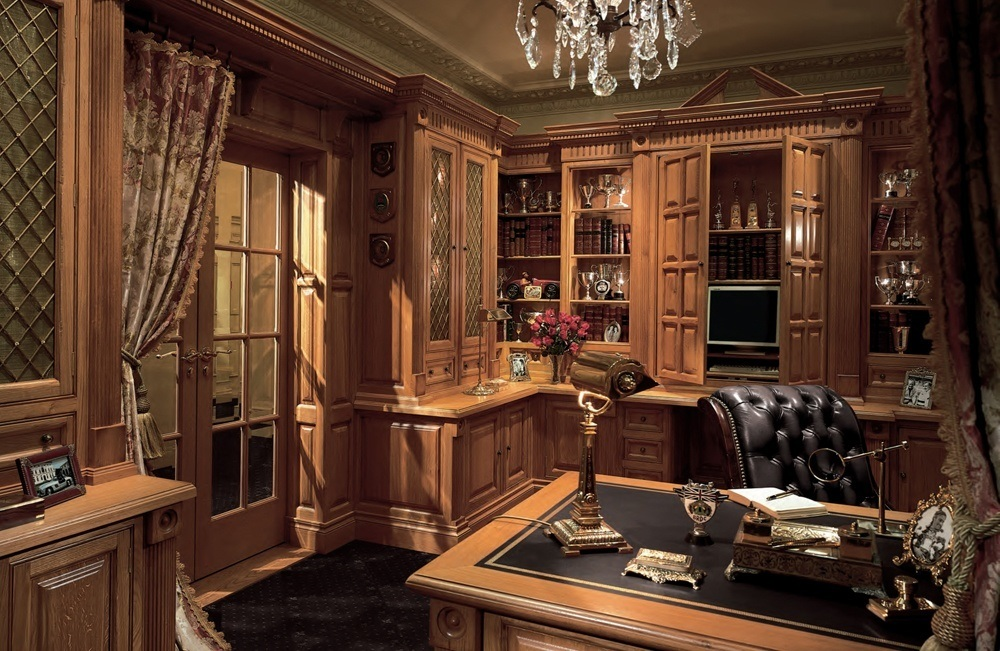 Beautiful luxury office furniture will make the room look quite exquisite.