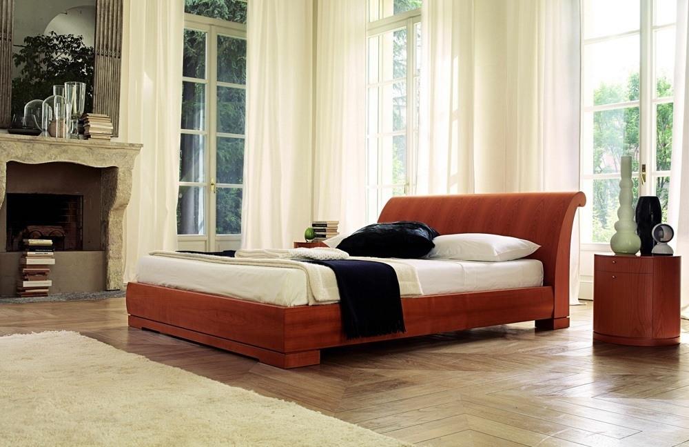 Cherry Wood Platform Bed