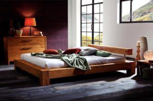 Natural Solid Oak Bed