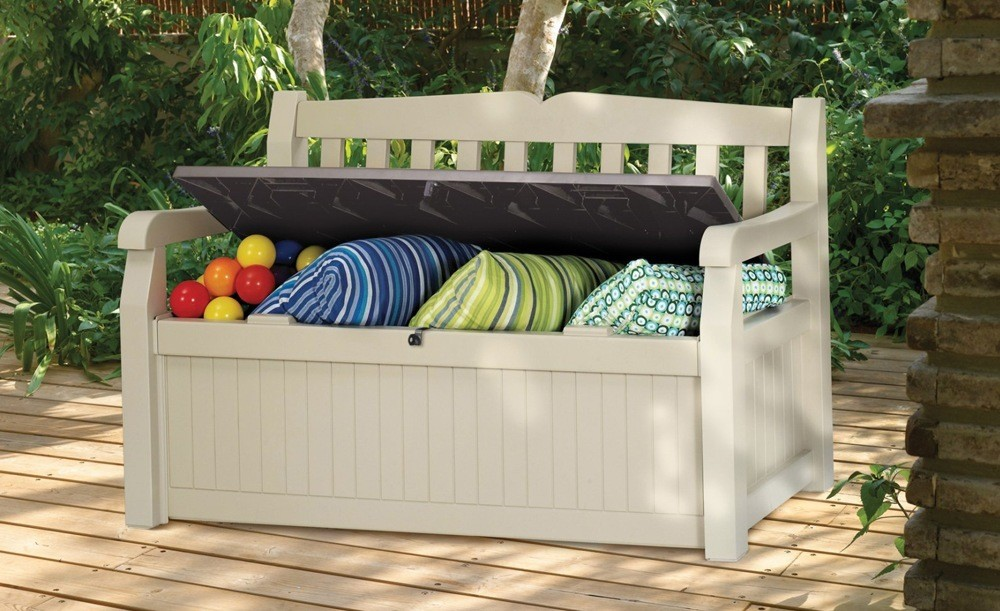 Outdoor Cedar Storage Bench