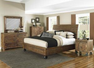 Unstained Wooden Bedroom Furniture