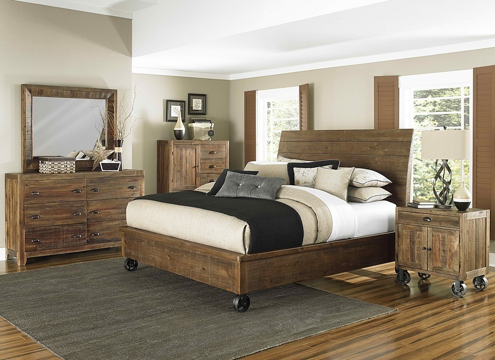 Organizing comfortable place for guests, unstained furniture will be one of the best decisions.