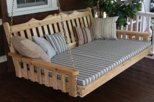 Western Cedar Royal Swing Bed