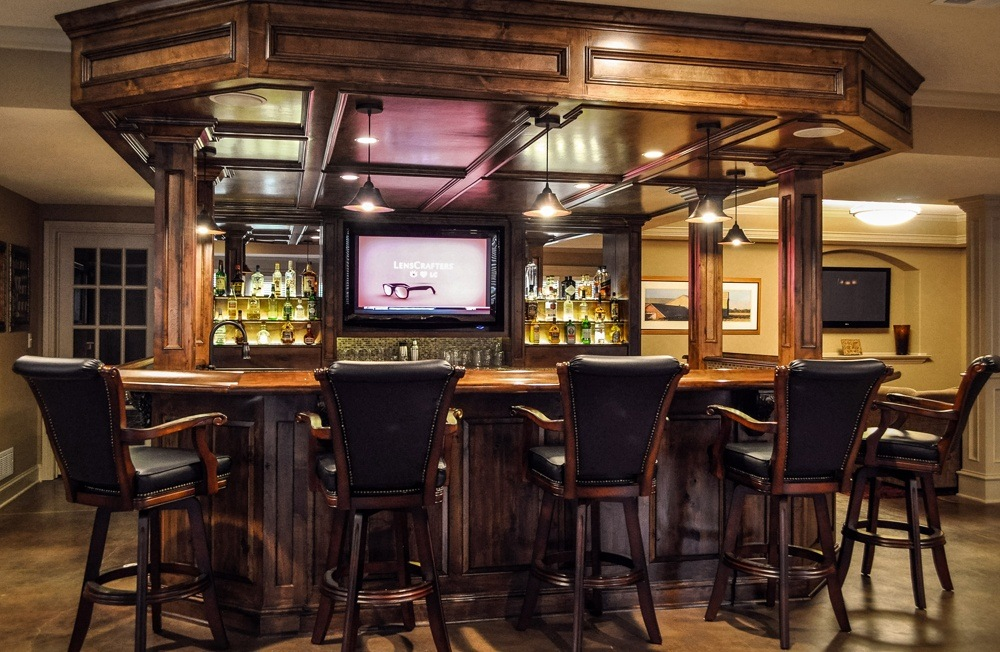 Speaking about the basement bar stools to be pared with the bar counters in the kitchen, they always should be higher than common chairs.