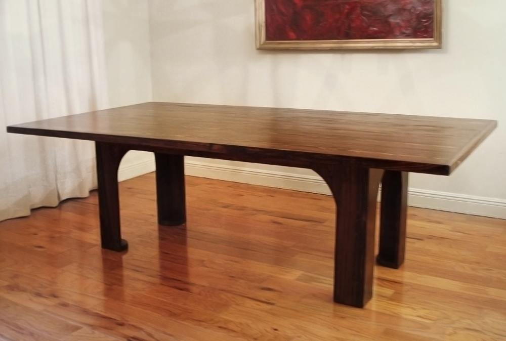 Dark Wood Modern Coffee Table