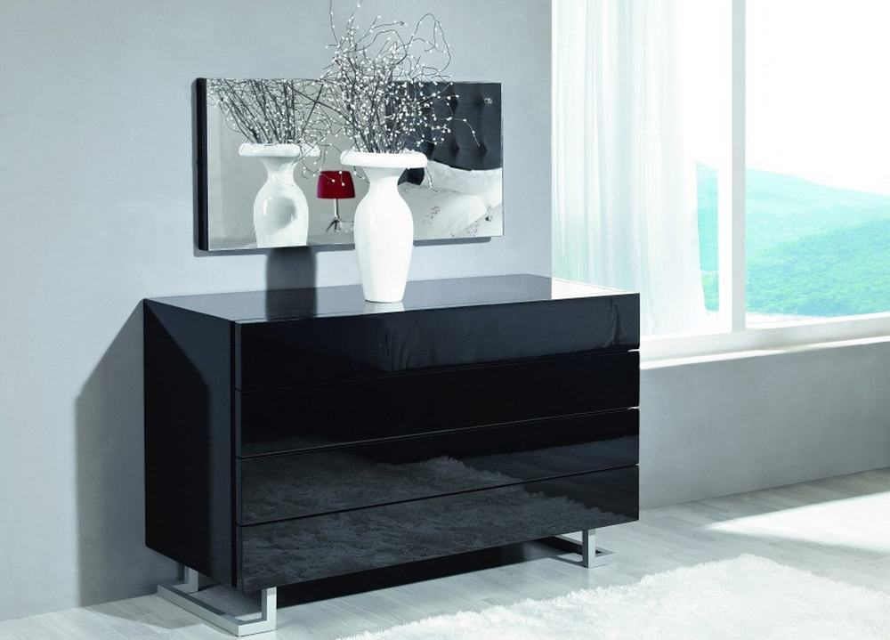 If your room is made in contemporary design then you can choose some black modern dresser.