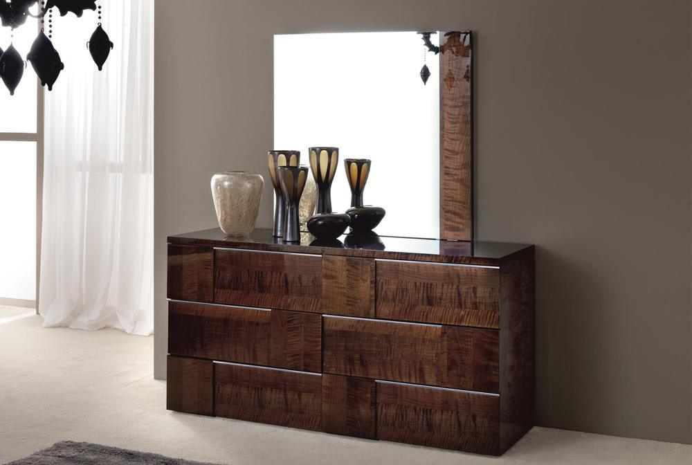 Brown Mirrored Dresser