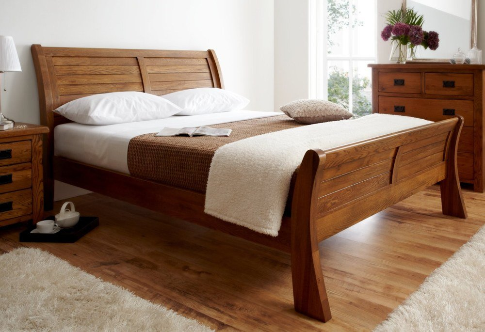 Simple Solid Wood Bed Frame