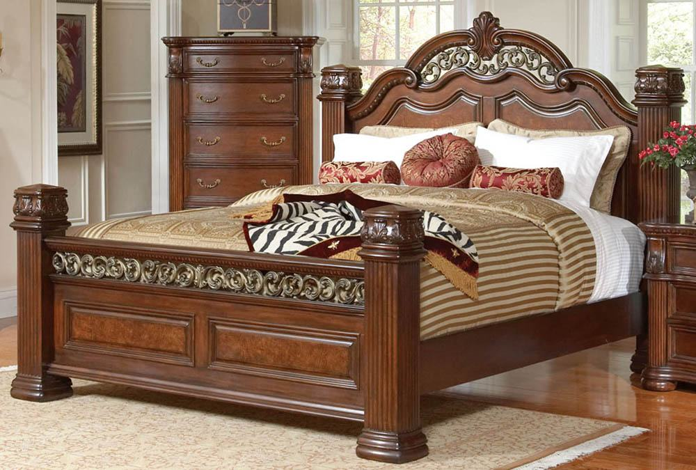 Cherry Wood King Size Bed