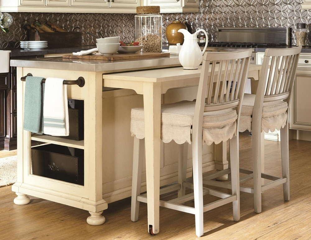 Measure your counter, then the choice of kitchen bar table ideas will become easier.