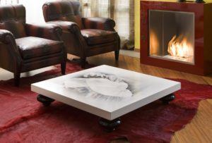 Coffee Table With Square Edge Profiles