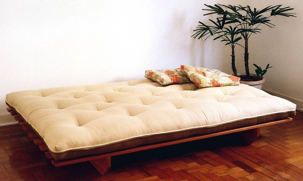 Solid Wood Futon Sofa Bed