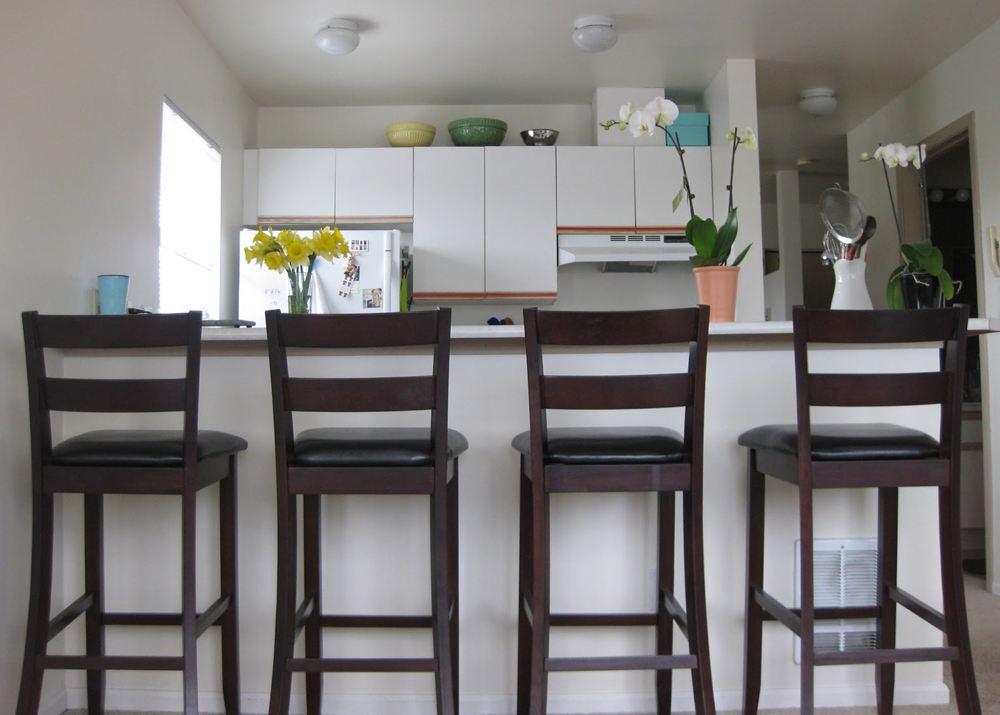 Wooden Kitchen Bar Stools With Backs