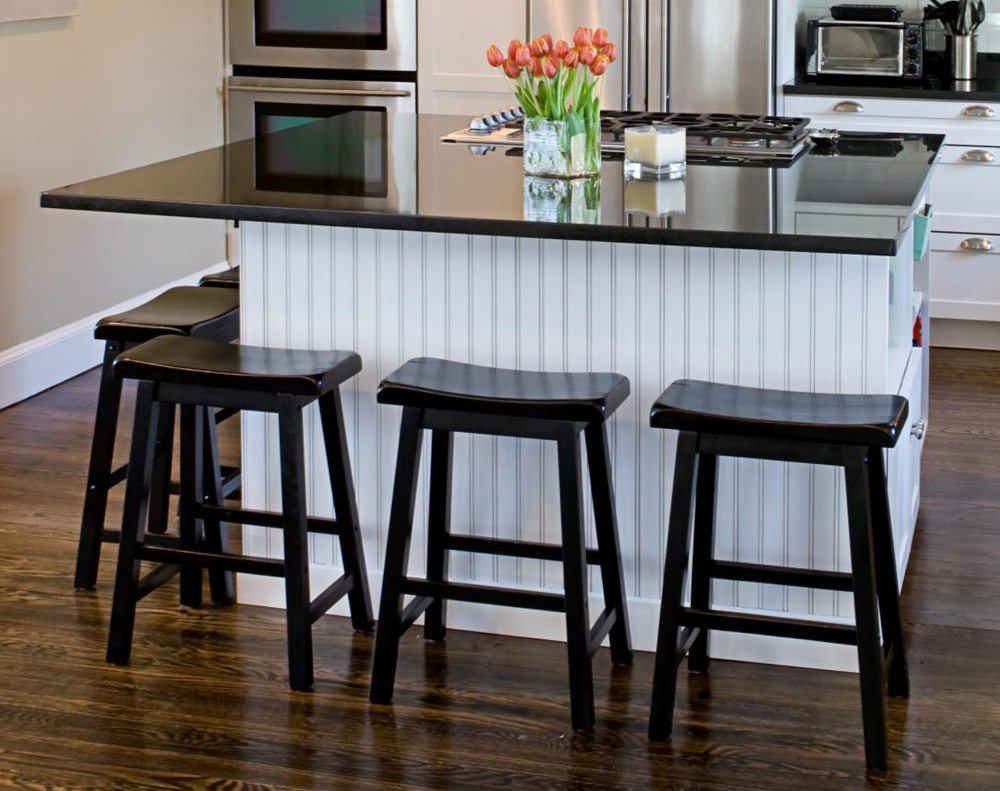 Black Contemporary Bar Stools