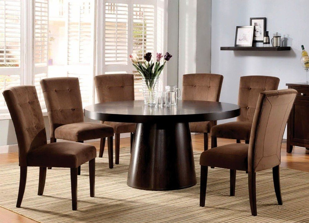 Modern Round Dining Table and Chairs