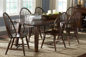 Modern Rectangular Dining Set for 6