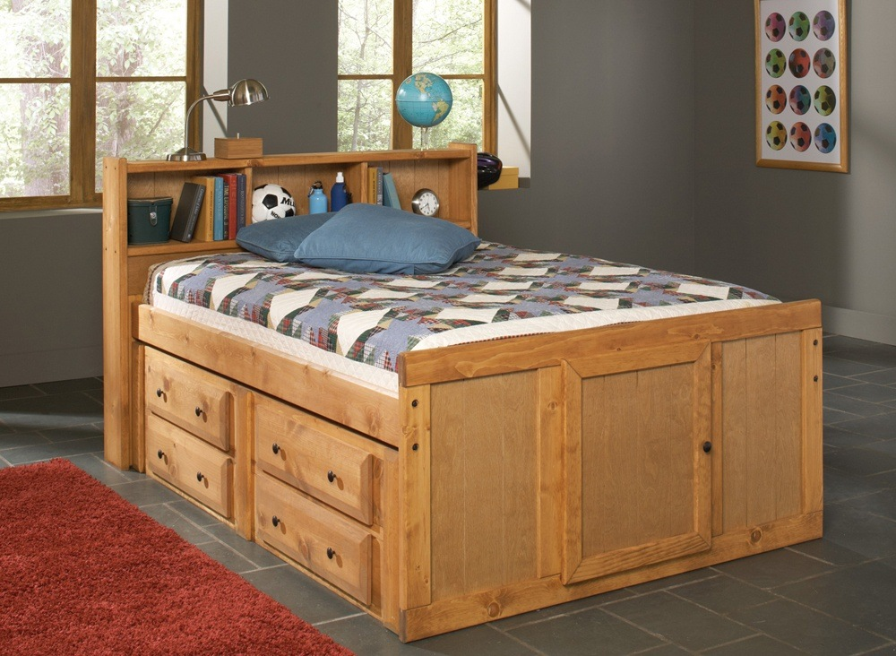 Kids Bed with Bookcase