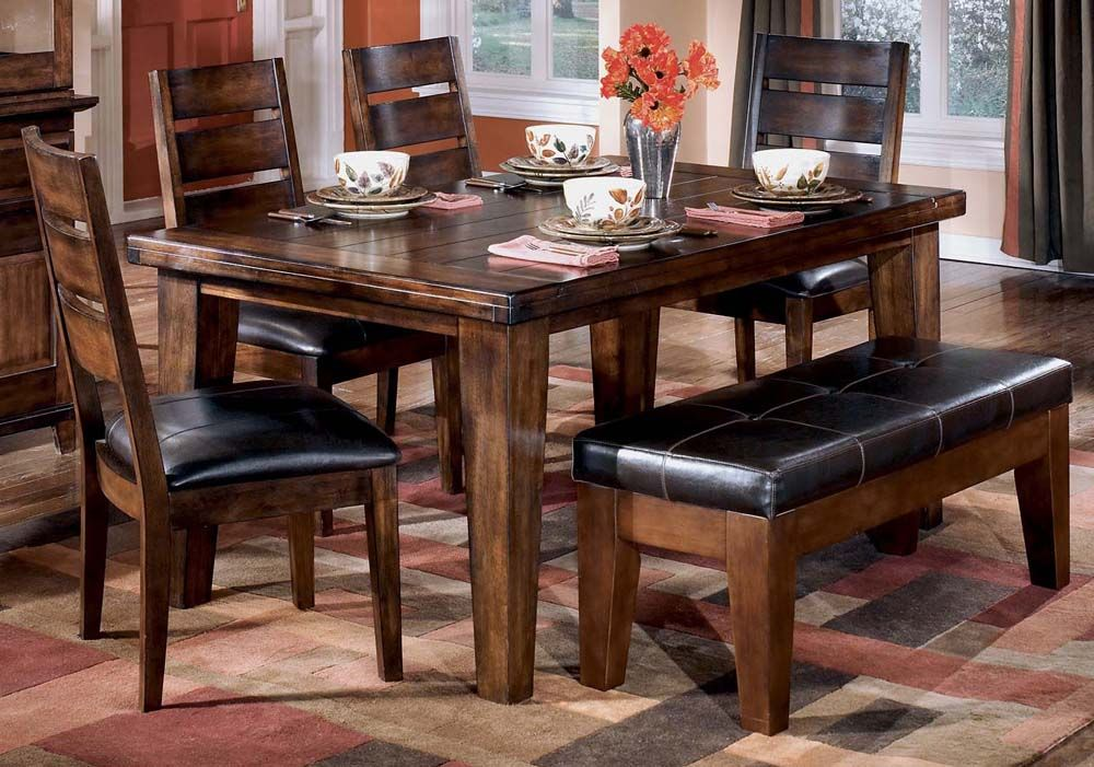 Rectangular Dining Table Set With Bench