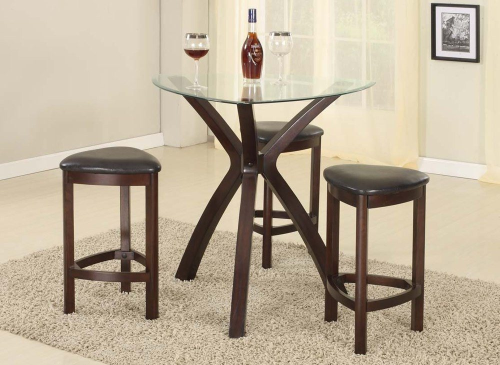 Small Round Dining Table With Triangle Bar Stools