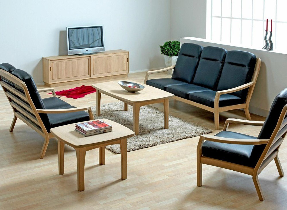 Small Sofa Set - TheBestWoodFurniture.com
