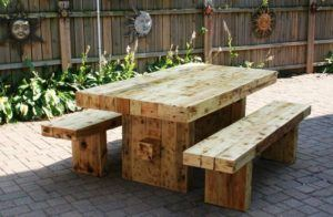 Strong Solid Wood Dining Table