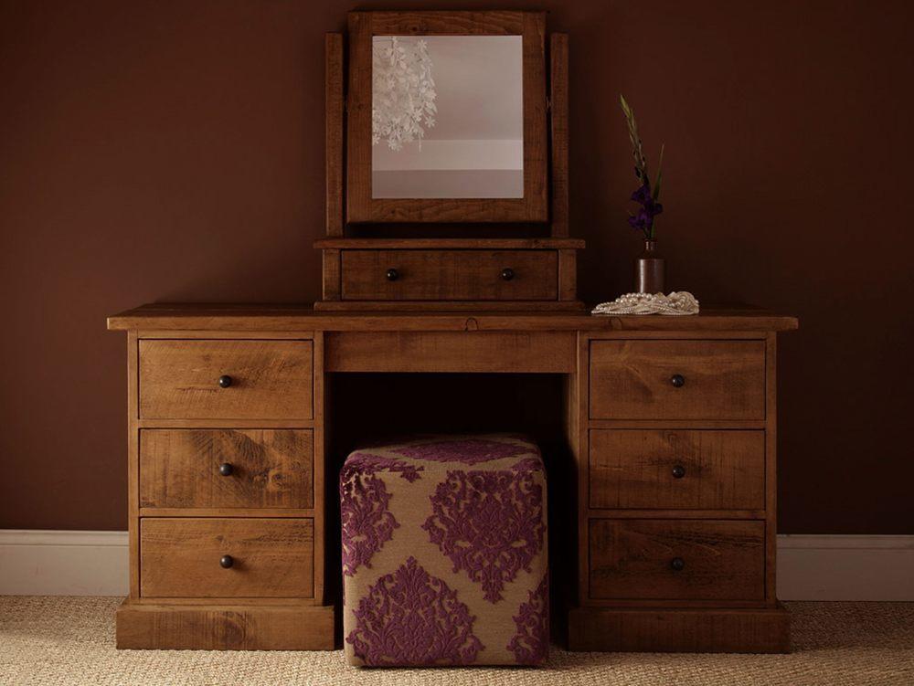 Teak Wooden Dressing Table - TheBestWoodFurniture.com