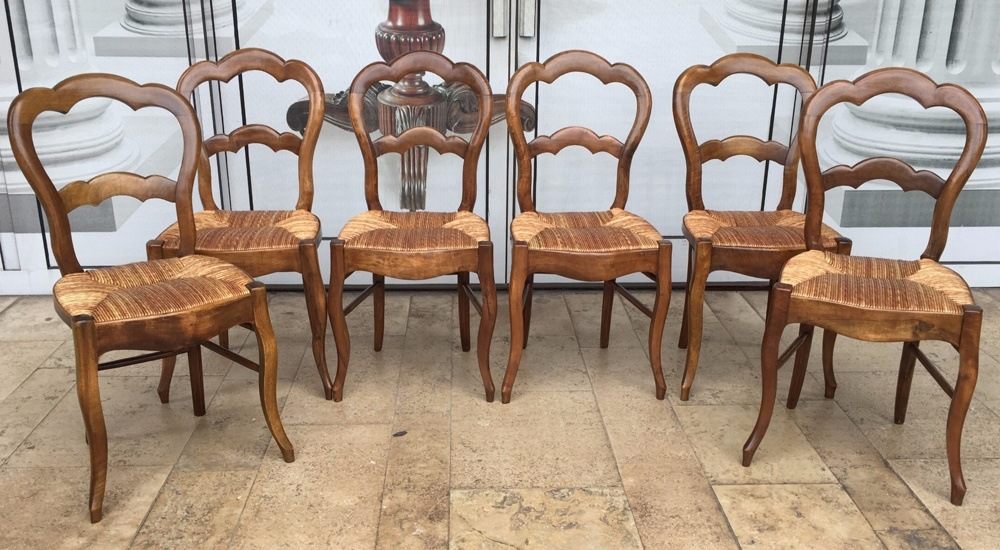 Contemporary Walnut Dining Chairs