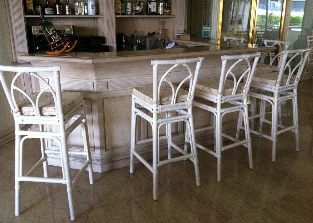 White Tall Bar Stools