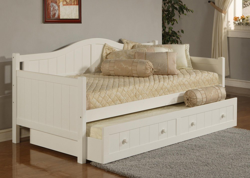 White Slide Bed