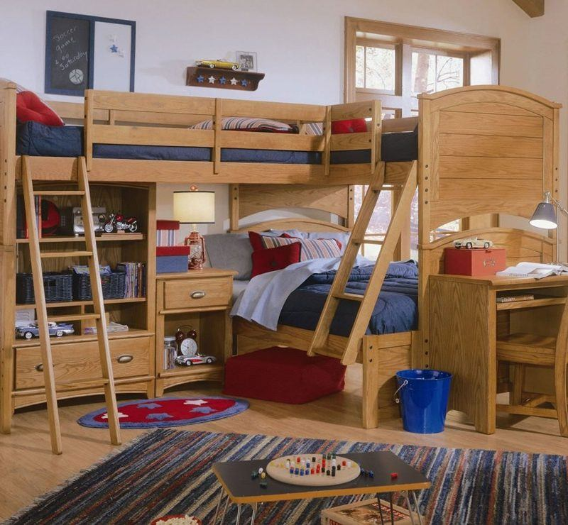 Wooden Bunk Bed for Kids