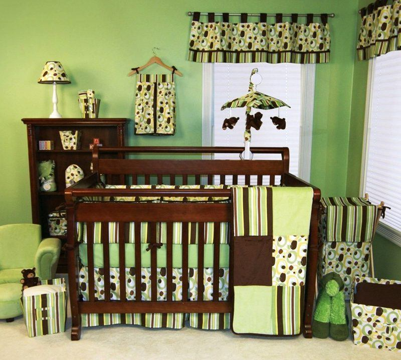 Baby Nursery with Crib Beddings