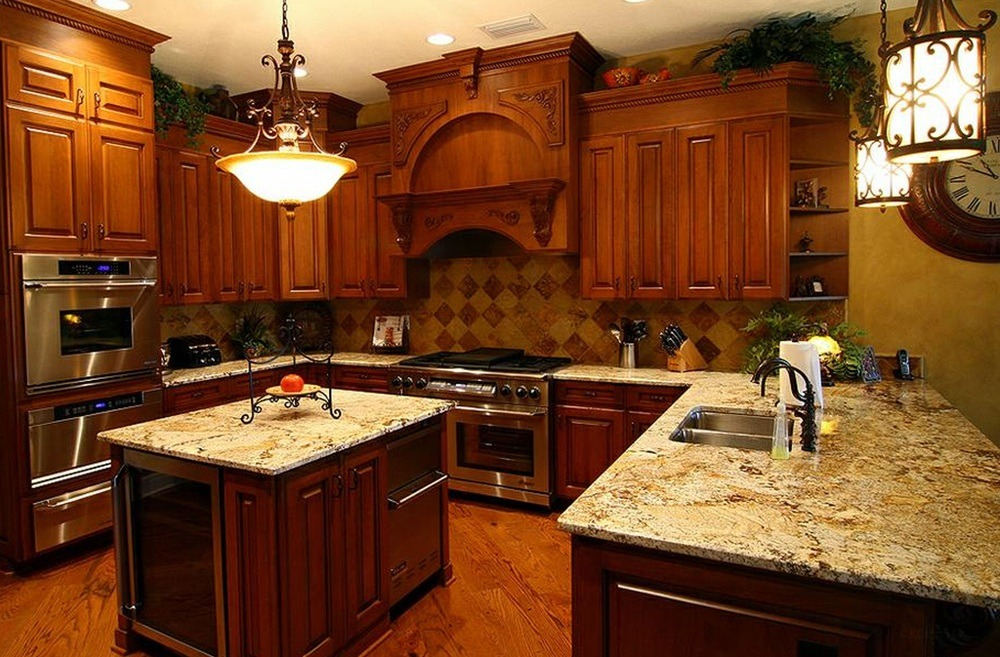 Stained Wood Kitchen