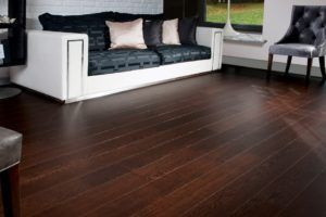 Dark Hardwood Floors With Grey Walls