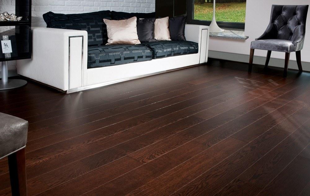 Dark Hardwood Floors With Grey Walls