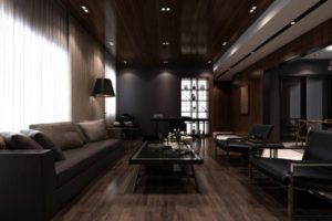 Dark Style Wood Living Room