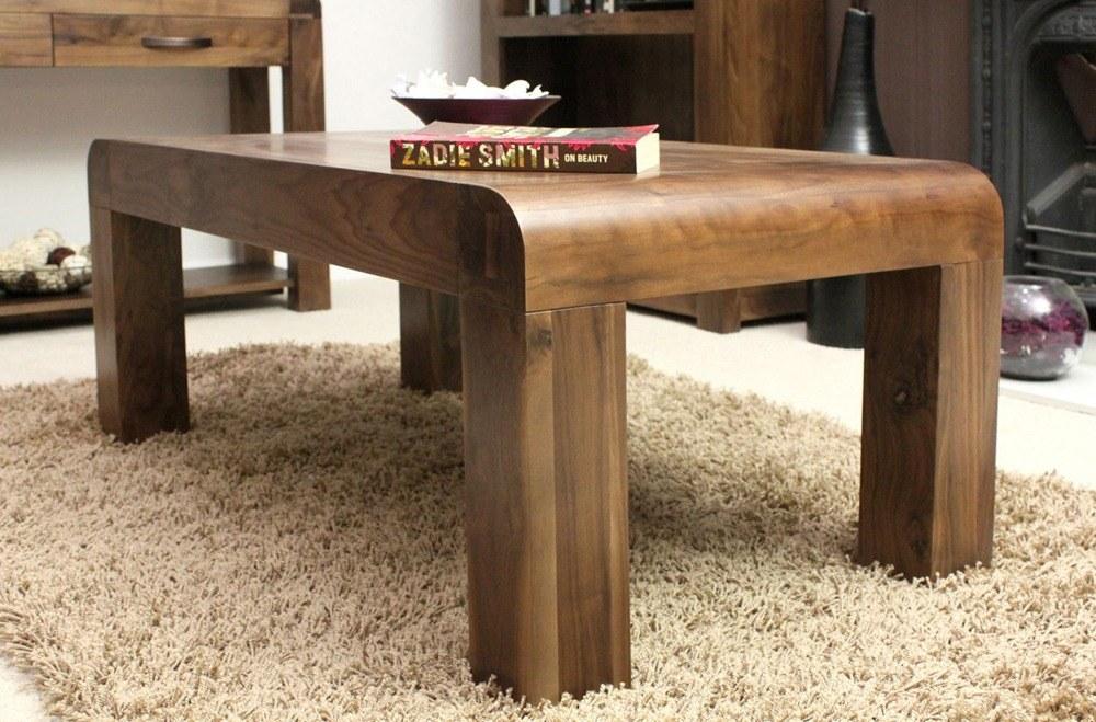 Dark Walnut Coffee Table Set