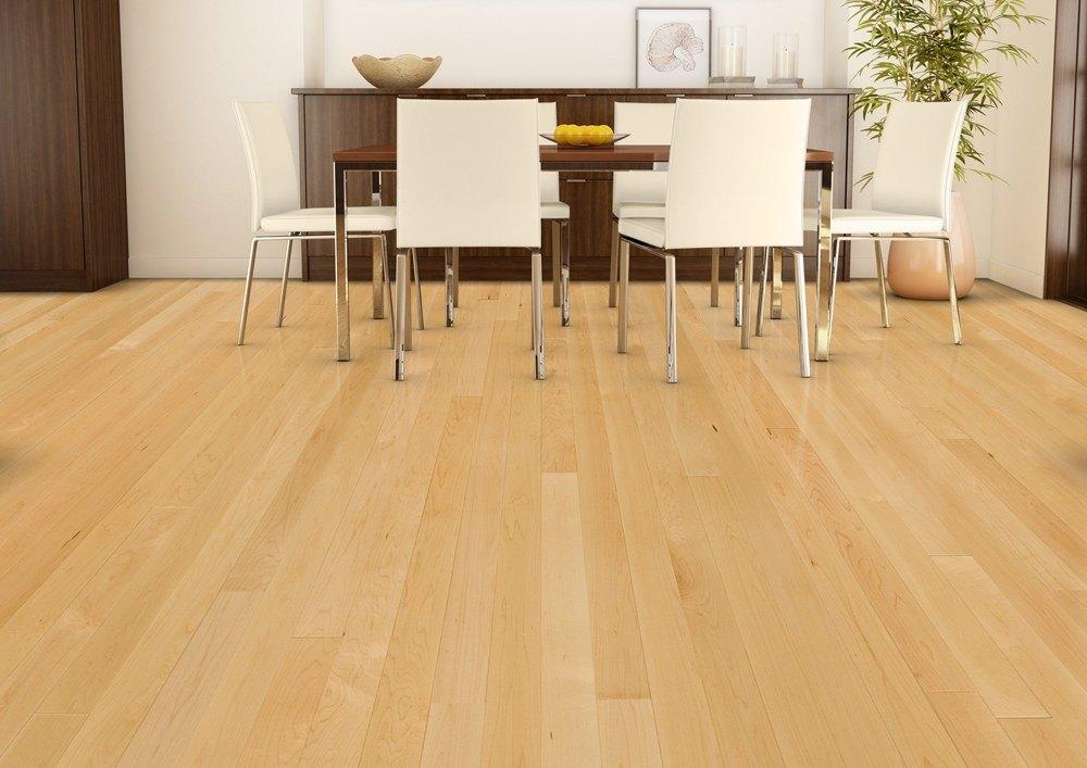 Light Hardwood Floors With Gray Walls
