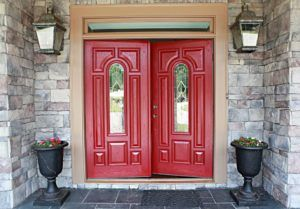 Painted Custom Wood Front Doors